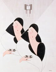 Two ladies art deco