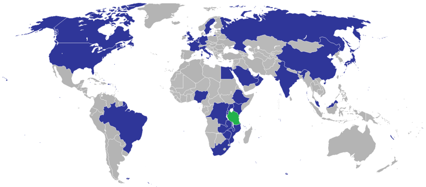 Diplomatic missions of Tanzania