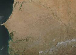 Satellite image of Senegal in May 2002