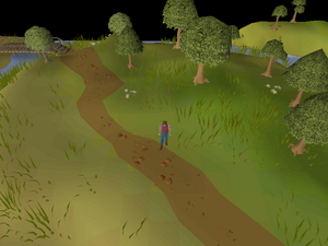 Hot cold clue - near castle wars