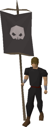Banner (Skull) equipped