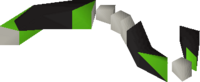 Damaged monkey tail detail