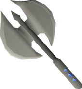 Dwarven battleaxe (repaired) detail
