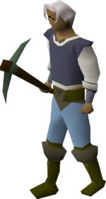 Adamant pickaxe equipped