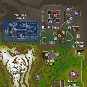 Warriors' Guild location