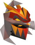 Magma helm detail