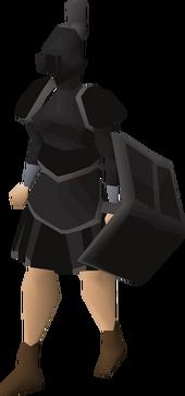 Black trimmed set (sk) equipped