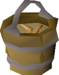 Bucket of sandworms detail