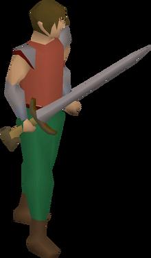 Fremennik blade equipped