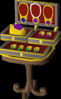 Ornate jewellery box built