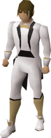 Light tuxedo outfit equipped