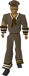 Brown naval set equipped