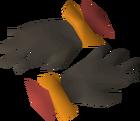 Warm gloves detail