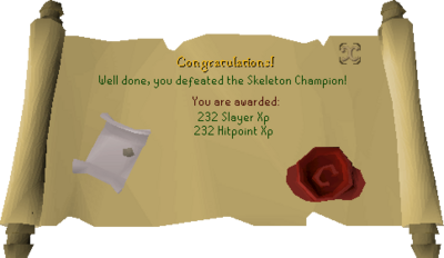 Skeleton Champion reward