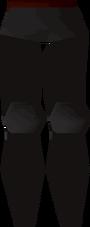 Black platelegs detail