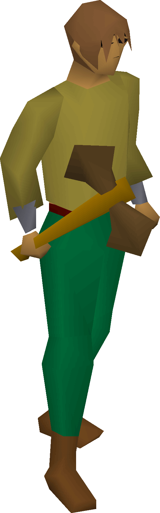 Bronze battleaxe equipped