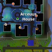 Hot cold clue - Arceuus house entrance map