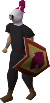 Heraldic helm (Dragon) equipped
