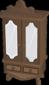 Mahogany wardrobe built