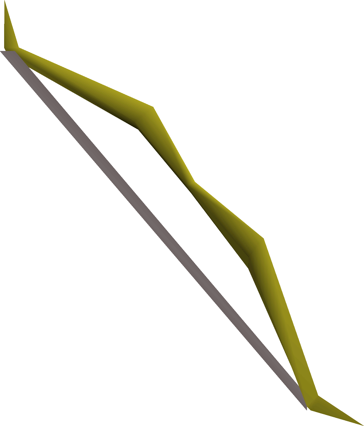 Willow longbow detail