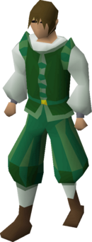 Green elegant clothing (male) equipped