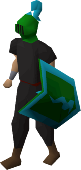 Heraldic helm (Guthix) equipped