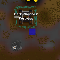 Hot cold clue - SE of Dark Warriors' Fortress map