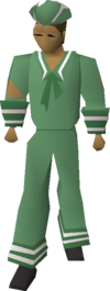 Green naval set equipped