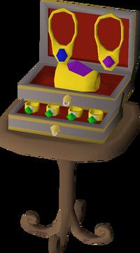 Fancy jewellery box built