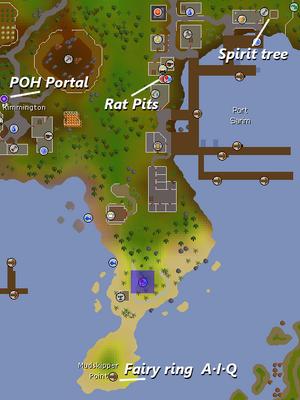 Asgarnian Ice Dungeon location