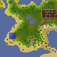 Hot cold clue - West of Brimhaven map