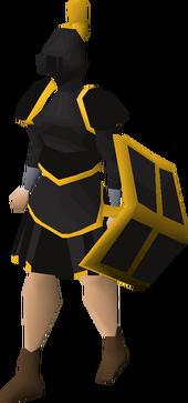Black gold-trimmed set (sk) equipped