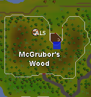 Hot cold clue - mcgrubors woods map