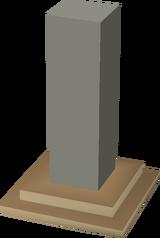 Limestone attack stone built