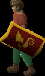 Dragon sq shield (g) equipped