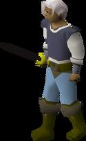 Black longsword equipped