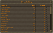 Slayer Kill Log