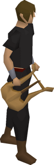 Lyre equipped