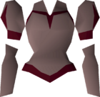 Red elegant blouse detail