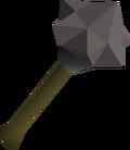 Iron mace detail