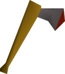 Iron axe detail