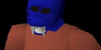 Blue halloween mask