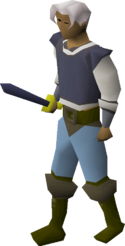 Mithril sword equipped