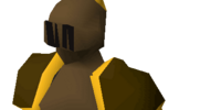 Bronze gold-trimmed armour