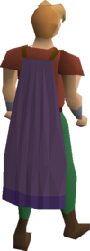 Purple cape equipped