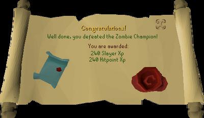 Zombie Champion reward