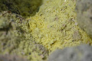 Sulfur crystals