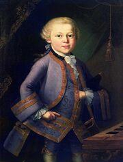 Wolfgang amadeus mozart child