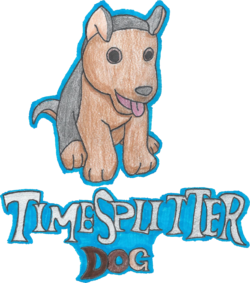 Drawing of TimeSplitter Dog