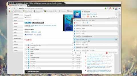 Chrome Last.fm free music player = awesome
